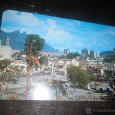 Postales: FUTBOL GARCIA CARRION MONTERREY MEXICO POSTAL AÑOS 70 ALAMEDA PARK DE RODRIGUEZ ARBITRO PROVERBIO. Lote 39615809