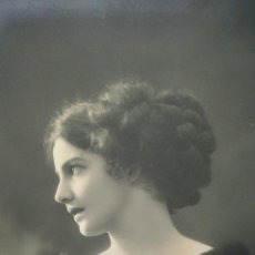 Postales: PRECIOSA POSTAL ANTIGUA DE PERFIL DE CHICA DEL AÑO 1911. Lote 39676191
