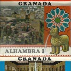Postales: TIRA DE 12 POSTALES DE GRANADA LA ALHAMBRA. Lote 39726490