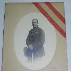 Postales: ANTIGUA FOTOGRAFIA ORIGINAL DE ALFONSO XIII CON UNIFORME DE CAPITAN GENERAL - FOTO KAULAK - MIDE 31,. Lote 38273134