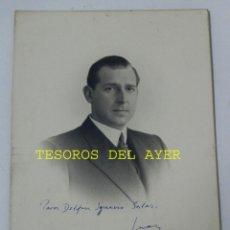 Postales: ANTIGUA FOTOGRAFIA DE DON JUAN DE BORBON, CON DEDICATORIA Y FIRMA MANUSCRITA, FOTO KAULAK, MONARQUIA. Lote 38278648
