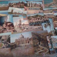 Postales: 22 POSTALES DEL MUNDO. CIUDADES VARIAS (LONDRES, GENOVA, VENECIA, TURIN, ETC...). Lote 40764259