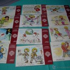 Postales: POSTALES DE LOTERIA NACIONAL COLECCION COMPLETA SERIE K. Lote 40930356