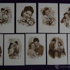 Postales: 18 POSTALES DIFERENTES ROMANTICAS.ORIGINALES DE EPOCA. VINTAGE. POSTAL ROMANTICA.. Lote 41620539