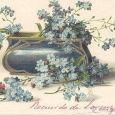 Postales: FLORES-1. POSTAL RELIEVE ALEMANA, IMPRESA C. 1910. Lote 41629753
