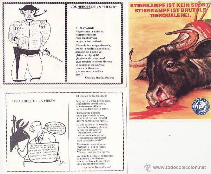 LOTE DE 12 TARJETAS POSTALES SOBRE TAUROMAQUIA. (Postales - Varios)