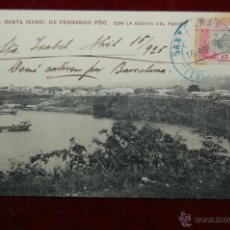 Postales: ANTIGUA POSTAL DE SANTA ISABEL DE FERNANDO PÓO. GUINEA EQUATORIAL. CIRCULADA . Lote 42508876