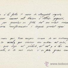 Postales: JACINTO VERDAGUER, POSTAL DEL AUTOGRAFO DE LA ODA A BARCELONA. Lote 42524452