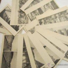 Postales: LOTE DE 19 POSTALES ESTEREOSCÓPICAS DOBLES. MEDIDA: 14 X 8,7 CMS.. Lote 42836609