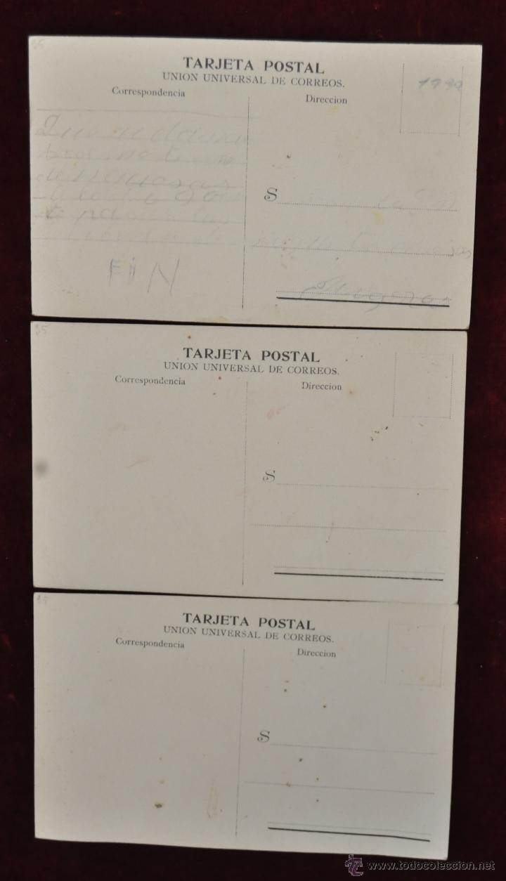 Postales: LOTE DE 3 POSTALES EL CONTRABANDISTA. PERSONAJES. FOT. RABASSA - Foto 2 - 42951165