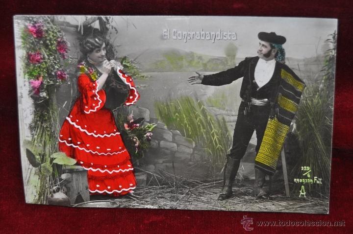 Postales: LOTE DE 3 POSTALES EL CONTRABANDISTA. PERSONAJES. FOT. RABASSA - Foto 4 - 42951165