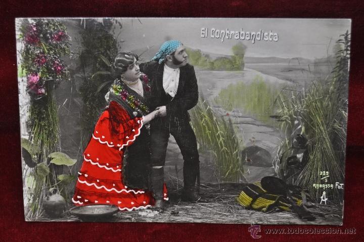Postales: LOTE DE 3 POSTALES EL CONTRABANDISTA. PERSONAJES. FOT. RABASSA - Foto 5 - 42951165