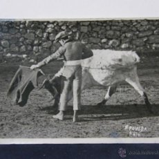 Postales: POSTAL FOTOGRÁFICA TAURINA CORRIDA TOROS TORERO JESÚS ESTEBAN BACHILLER FOTO POVEDA. Lote 42991272