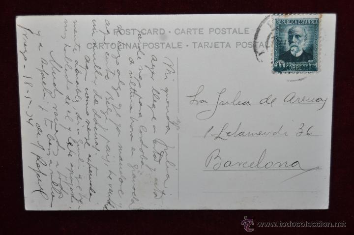 Postales: FOTO POSTAL DE PRINCIPIOS DE SIGLO XX. CALLE, GENTE PASEANDO. CIRCULADA - Foto 2 - 43005948