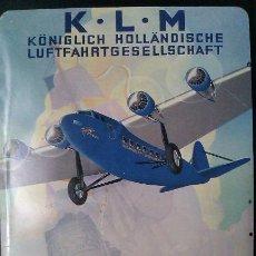 Postales: POSTAL METALICA ANTIGUA DE K.L.M HOLANDA - DER FLIEGENDER HOLLÄNDER - VINTAGE Y DIFICIL DE CONSEGUIR. Lote 43446922