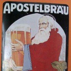 Postales: POSTAL METALICA ANTIGUA DE WERGER BRAUEREI ALEMANIA - APOSTELBRÄU - VINTAGE Y DIFICIL DE CONSEGUIR. Lote 43446951