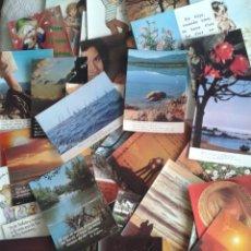 Postales: LOTE DE 44 POSTALES SURTIDO VARIADO.... EN CADA UNA DE ELLAS HAY UNA FRASE... HAY ALGUNA CIRCULADA.. Lote 44072504