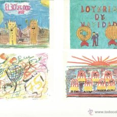 Postales: POSTALES JUEGO DE 12 DE LOTERIA DE NAVIDAD COLEGIO SAN ILDEFONSO. Lote 44105611