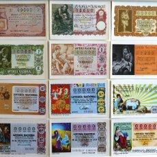 Postales: POSTALES LOTERIA NACIONAL. SERIE N. DECIMOS SORTEO DE NAVIDAD. 1981. 12 POSTALES.. Lote 44123265