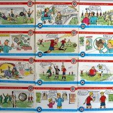 Postales: POSTALES LOTERIA NACIONAL. SERIE Q . LA LOTERIA Y EL FUTBOL. E. DE LARA. 1981. 12 POSTALES.. Lote 44123464