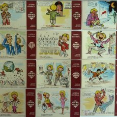 Postales: POSTALES LOTERIA NACIONAL. SERIE K. E. DE LARA. NUEVOS REFRANES. 1979. 12 POSTALES.. Lote 44123514
