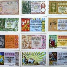 Postales: POSTALES LOTERIA NACIONAL. SERIE N. DECIMOS SORTEO DE NAVIDAD. 1981. 12 POSTALES.. Lote 44123286