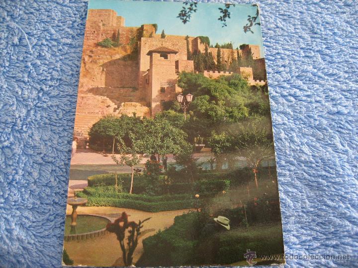 POSTAL ANTIGUA- MALAGA. LA ALCAZABA, DETALLE. EDICIONES RO. 335-1964 (Postales - Varios)