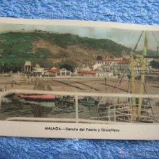 Cartes Postales: POSTAL ANTIGUA- MALAGA.DETALLE DEL PUERTO Y GIBRALFARO. ARRIBAS. NUM. 214. Lote 44777192