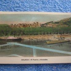 Cartes Postales: POSTAL ANTIGUA- MALAGA.EL PUERTO Y ALCAZABA. ARRIBAS. NUM. 212. Lote 44789789