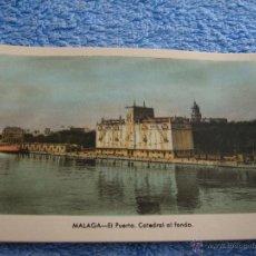 Cartes Postales: POSTAL ANTIGUA- MALAGA.EL PUERTO . CATEDRAL AL FONDO. ARRIBAS. NUM. 211. Lote 44789838