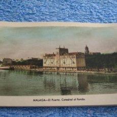 Cartes Postales: POSTAL ANTIGUA- MALAGA.EL PUERTO . CATEDRAL AL FONDO. ARRIBAS. NUM. 211. Lote 44789845