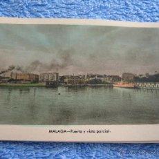 Cartes Postales: POSTAL ANTIGUA- MALAGA.PUERTO Y VISTA PARCIAL. ARRIBAS. NUM. 210. Lote 44789880