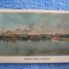 Cartes Postales: POSTAL ANTIGUA- MALAGA.PUERTO Y VISTA PARCIAL. ARRIBAS. NUM. 210. Lote 44789910