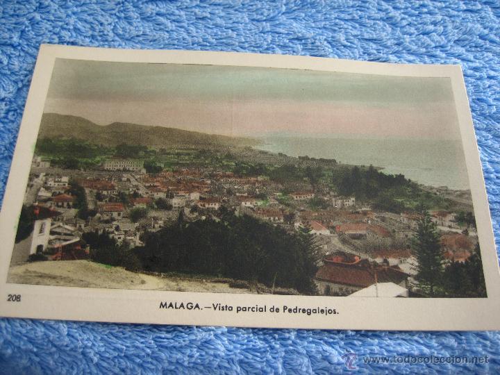 POSTAL ANTIGUA- MALAGA. VISTA PARCIAL DE PEDREGALEJOS. ARRIBAS. NUM. 208 (Postales - Varios)