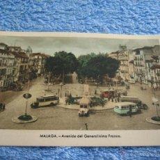Cartes Postales: POSTAL ANTIGUA- MALAGA. AVENIDA DEL GENERALISIMO FRANCO. ARRIBAS. NUM. 14. Lote 44790775