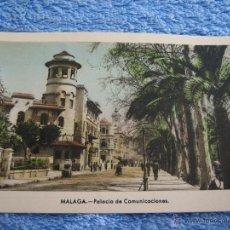Cartes Postales: POSTAL ANTIGUA- MALAGA. PALACIO DE COMUNICACIONES. ARRIBAS. NUM. 58. Lote 44790860