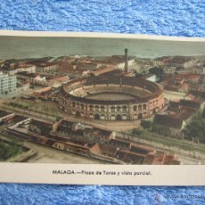 Cartes Postales: POSTAL ANTIGUA- MALAGA. PLAZA DE TOROS Y VISTA PARCIAL. ARRIBAS. NUM. 201. Lote 44798285