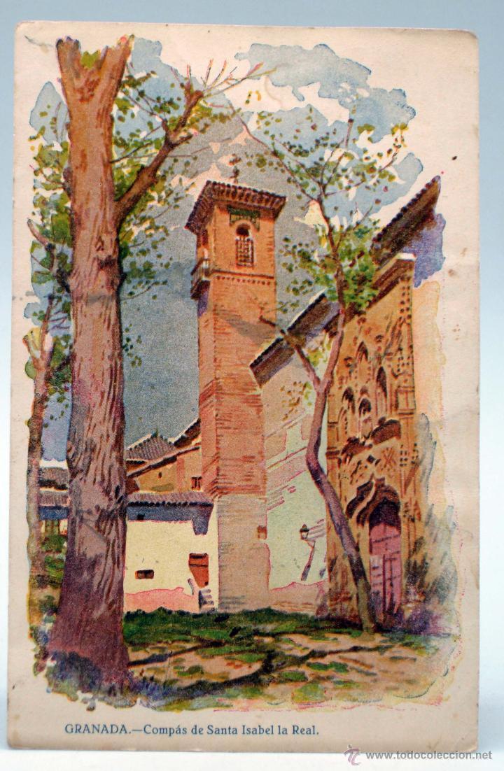Postal Granada Comp S Santa Isabel Real Publici Comprar Postales  # Muebles Martinez