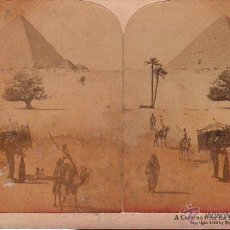 Postales: POSTAL STEREOSCOPIC. A CARAVAN FROM THE LIBYAN DESERT. EGYPT. UNDERWOOD.. Lote 44995987