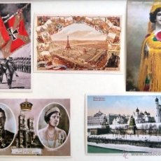 Postales: POSTAL HISTORIA GRAFICA DEL SIGLO XX. 5 POSTALES.. Lote 45124389