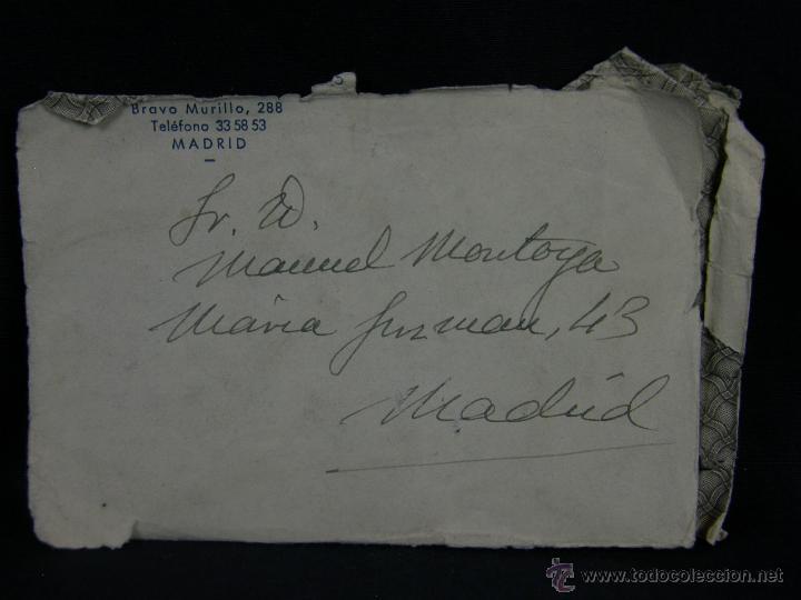 SOBRE TAURINA CORRIDA PLAZA TOROS TORERO MANUEL MONTOYA MADRID 14X9 (Postales - Varios)