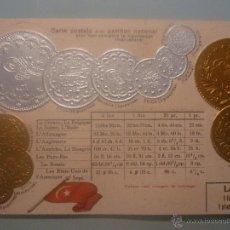 Postales: POSTAL ALEMANA SIN CIRCULAR 1900 CON MONEDAS TROQUELADAS DE LA TURQUIE. EN ORO Y PLATA. Lote 45550304