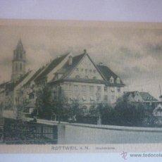 Postales: ALEMANA, CON SU FUNDA ORIGINAL DE 1900 SIN CIRCULAR. ROTTWEIL A.N. TEMA: HOCHBRÜCKE (PUENTE ALTO). Lote 45613735