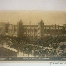 Postales: PLAZA DE TOROS MONUMENTAL. BARCELONA. CIRCULADA AÑO 50 CLICHÉ A. ZERKOWITZ. Lote 45620101