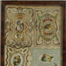 Postales: I2-002- COMPOSICION DE ESTAMPAS TROQUELADAS EN PAPEL. S.XIX.. Lote 45750759