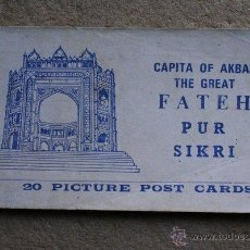 Postales: POSTALES. 20 PICTURE POST CARDS. CAPITA OF AKBAR. THE GREAT FATEH PUR SIKRI.. Lote 46080221