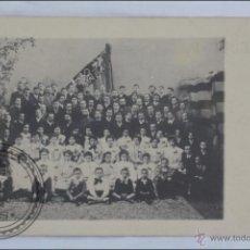 Postales: ANTIGUA POSTAL FOTOGRÁFICA - GRUPO DE CATALANISTAS DE TARRAGONA - ORFEÓ / ORFEÓN - DORSO SIN DIVIDIR. Lote 46312355