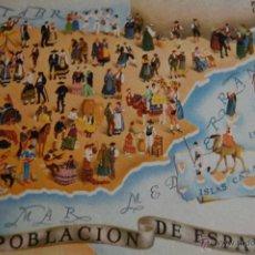 Postales: POSTAL PRESIDENCIA DEL GOBIERNO INE. LA POBLACION DE ESPAÑA. 1956. VALVERDE. SAN SEBASTIAN. Lote 46370577
