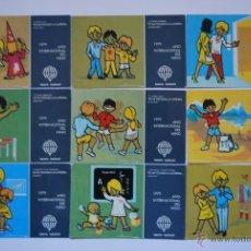 Postales: LOTE DE 9 POSTALES DE LOTERÍA: AÑO INTERNACIONAL DEL NIÑO AÑO 1979. Lote 46408085