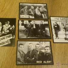 Postales: LOTE DE 5 POSTALES OI! PUNK COCKNEY REJECTS THE LAST RESORT RED ALERT INFA RIOT PUNK SKINHEADS. Lote 46412556